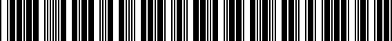 Barcode for 3QF601025KAX1