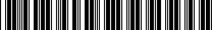Barcode for NPN071121